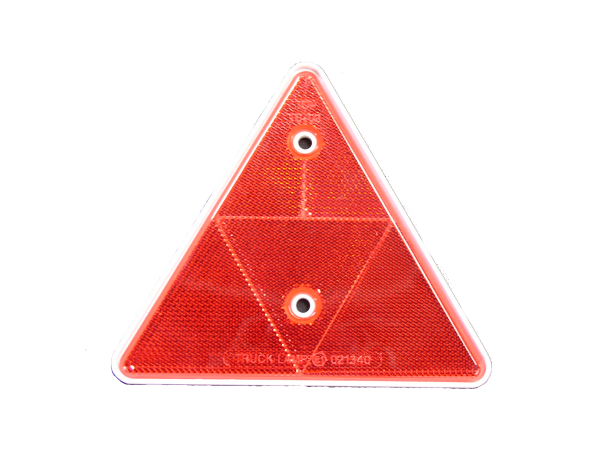 REFLECTOR TRIANGLE - RED (White Backing)